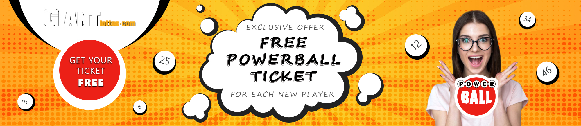 Free Powerball ticket from GiantLottos